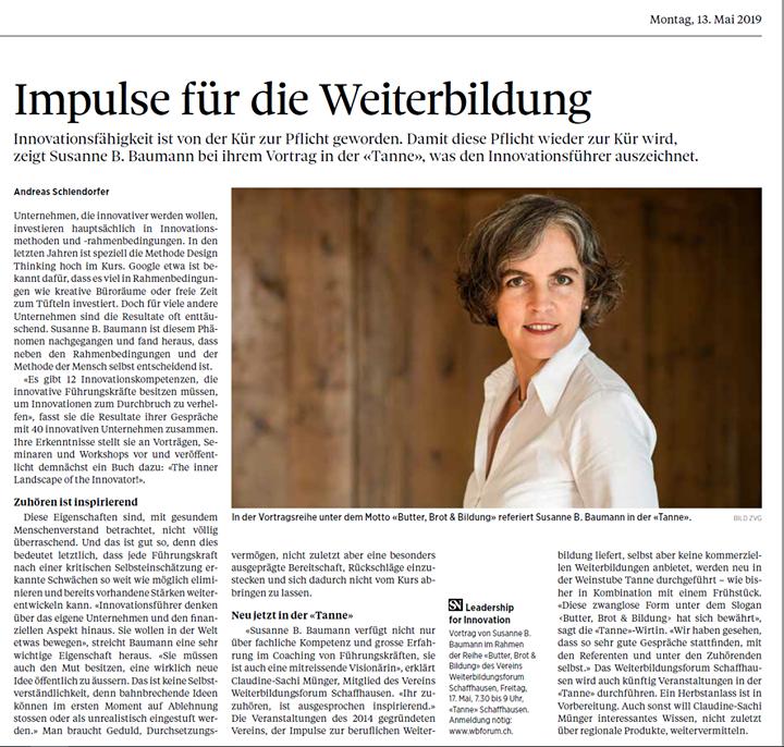 Weiterbildungsforum Schaffhausen Thumbnail