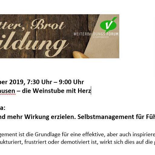 Butter, Brot & Bildung by Weiterbildungsforum Schaffhausen Thumbnail