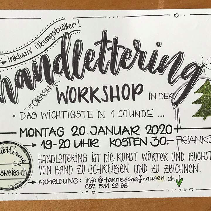 Handlettering Workshop by kokosweiss.ch Thumbnail